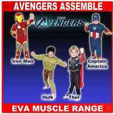 Deluxe AVENGERS THOR, HULK, Ironman & CAPITAN AMERICA EVA Muscoli Costume 3-8Yrs