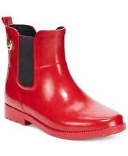 Michael KORS CHARM RED GOLD MK LOGO SHORT RAIN RUBBER BOOTS I LOVE SHOES