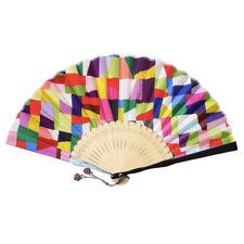 "Korean Traditional Handicraft Silk Hand Fan 8"" Gift Set Package Patchwork"