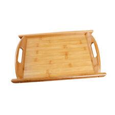 plateau de service en bambou plateau de butlers en bois multi fonctionnel