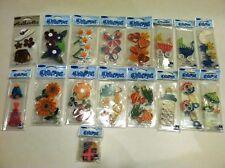 New 17 Jolee's Boutique Quillettes 3D Embellishments Stickers Scrapbooking lot