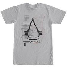 Assassin's Creed Logo Gray T-Shirt Anime Licensed NEW