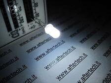 FOGGY 100 DIODI LED LEDS BIANCHI 5mm WHITE LUCE DIFFUSA DIFFUSED + RESISTENZE