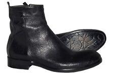Jo Ghost 912087 Italian mens black lazer cut boots with zipper