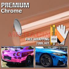 *Premium Chrome Rose Gold Copper Vinyl Film Wrap Sticker Decal Air Bubble Free