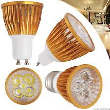 9W 12W 15W Dimmable LED Spotlight GU10 MR16 E27 E14 Golden Shell Bulbs 220V 240V