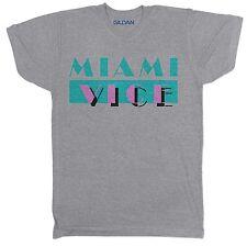 Miami Vice TV a tema OMAGGIO 90S Film Pellicola CULT 80S GRIGIO T SHIRT