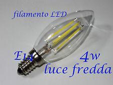 LAMPADINA 4W LAMPADA LED filamento   ATTACCO E14  luce FREDDA