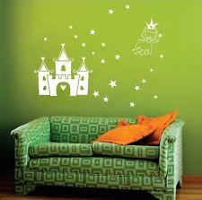 Princess & Castle Nursery Wall Art Sticker, Nursery Wall Decal Stickers - PD26