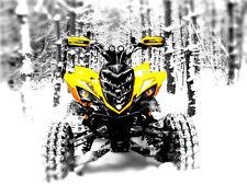 YAMAHA YFZ 450 Raptor 700 Custom Head Light Covers Yellow Eyes Atv