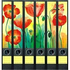 File Art 6 Design Ordner-Etiketten Flowers...................................088