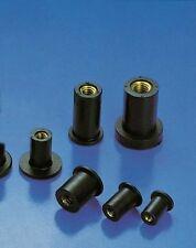 Gummimuttern mit Messinggewinde E.P.D.M alle Abmessungen/Mengen wiederverwendbar