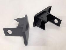 10 Stk 60x40 mm Kunststoff Zaunpfosten Pfosten Halterung Doppelstabmatte Dübel