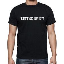 zeitschrift, Herren Tshirt Schwarz, Hommes Tshirt Noir, Geschenk, Cadeau