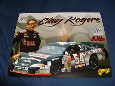 2009 CLAY ROGERS #54 C C BOILER USAR NASCAR POSTCARD