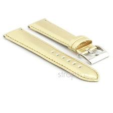 StrapsCo Metallic Watch Strap in Gold Mens Womens Band