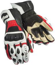 Cortech Latigo RR Leather Street Bike Sport Motorcycle Gloves-See Size-Red/White