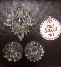 Priya's  3 Edibles Sugar Brooches Wedding Cake Diamond Jewel  Candy Decoration