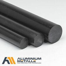 POM rund Ø 10 - 120mm Rundstange Stab Kunststoff schwarz Stange black round Rod