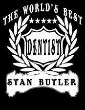 Dentist T-Shirt Personalised Add Name Great Gift Idea Customised Teeth Dental