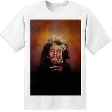 """Bob Marley """"Humo"""" camiseta Rasta Reggae enorme!!! NWA Wiz Drake Festival de impresión Gig"""