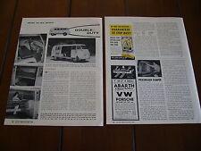 1956 VOLKSWAGEN VW CAMPER BUS  ***ORIGINAL 1956 ARTICLE*** KAMPER