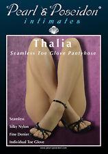 """Thalia"" - sexy sheer pantyhose toe glove nylons peep toe transparent each toe"