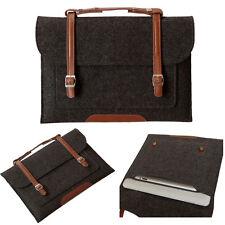 "Dark Gray Woolen Felt Carry Sleeve Bag Case Cover for MacBook Air Pro 11""13"" 15"""