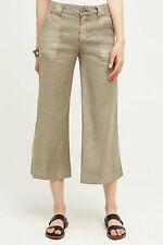 ANTHROPOLOGIE Level 99 Gauchos Linen Wide Leg Crops Pants NwT 26 27 2 4