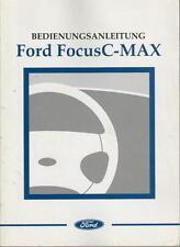 FORD  FOCUS C-MAX 1 Betriebsanleitung 2003 Bedienungsanleitung Handbuch BA