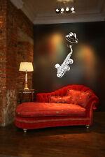 Jazz Sax Player Huge Wall Vinyl Decal, saxophone, reeds Alto RAMPONE & CAZZANI