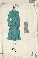 1950s Vintage Sewing Pattern B36 SUIT-JACKET & SKIRT (R765)
