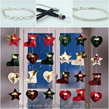 ♥ Dream-Pearls LED Adventskalender Schmuck Set Charms Beads versch. Optionen ♥