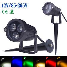 10pcs Outdoor 6 Color LED Landscape Flood Spot Light Path Walkway Lighting 12V