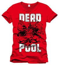 Deadpool Marvel T-Shirt Red Jump UK Seller