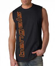 NEW Bengals VERT SHIRT Sleeveless Black Men's T-shirt LARGE XL 2XL Cincinnati