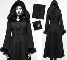 Lang Kapuze Mantel Gothic lolita barock Pelz Stickerei tailliert Korsett PunkRav