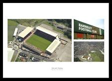 Barnsley FC Oakwell Stadium & Aerial View Photo Memorabilia (BAMU1)