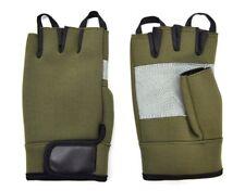Fingerless Neoprene Gloves Olive Green Cycling Handling Tactical Army Work Sport