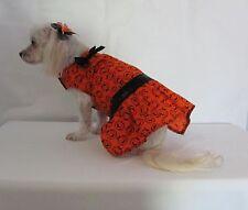 Pumpkin Halloween Drop Waist Dress Dog Puppy Pet Clothes XXXS - Large