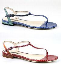 $795 New Authentic Bottega Veneta Python Flat Thong Sandal 338258