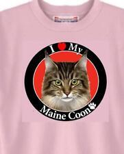 Cat T Shirt - I Love My Maine Coon Cat - Adopt Rescue Animal Dog Women Men # 83