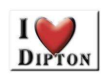 SOUVENIR UK - ENGLAND FRIDGE MAGNET UNITED KINGDOM I LOVE DIPTON (DURHAM)