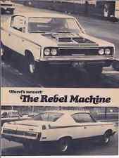 "1970 AMC REBEL ""THE MACHINE""   ~  GREAT ORIGINAL 2-PAGE ARTICLE / AD"