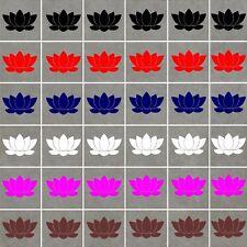 Lotus Flores Pegatinas De Pared Arte-resistente al agua, trabajarán en azulejos/Vidrio/Cerámica