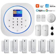 WIFI+GSM Wireless Alarm system TUYA Smart life APP Remote Home Security fr Alexa