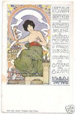 POSTCARD CZECH 1898 ARCHITECTURE EXPO ART NOUVEAU