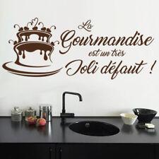 """Sticker Texte """"La gourmandise est un joli..."""", 20x50 cm et 30x75 cm (CUIS093)"""