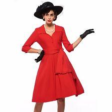 Vintage Retro 1950s A Line Elegant Princess Garden Party Formal Collar Dress