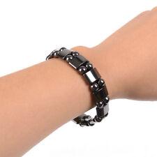 Natural Hematite Black Half-Moon Anti-fatigue Bracelet Magnet Health Unisex